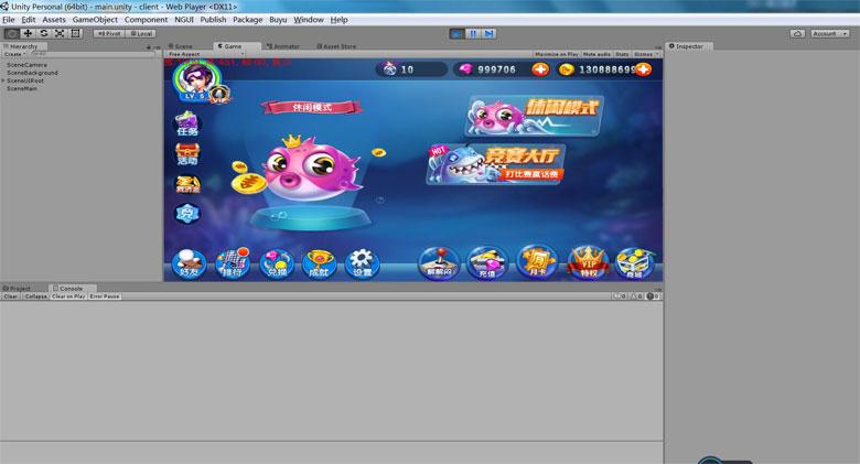 U3D手机版网络捕鱼全套包含服务端客户端源代码 后台完整插图(1)