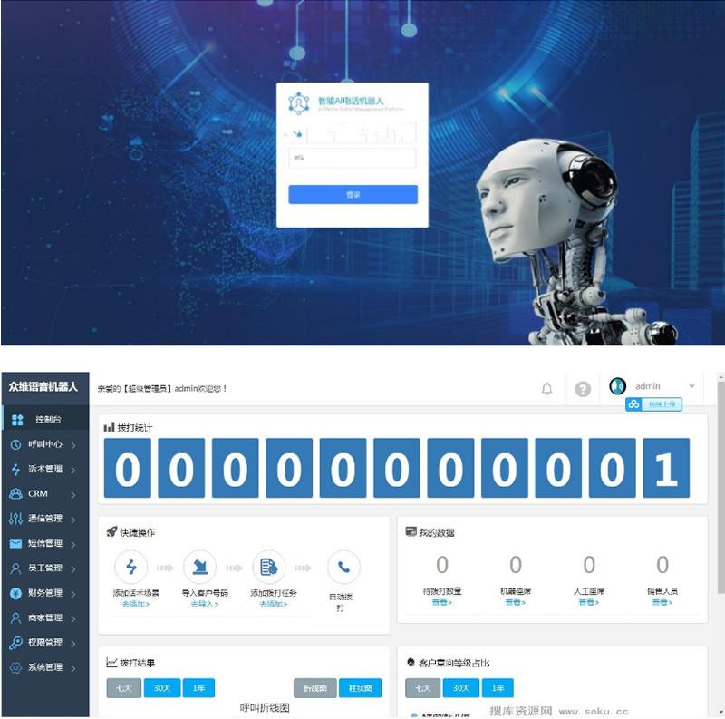 最新价值4800电销语音机器人接单运营版 完整版源码+文字安装教程-第1张
